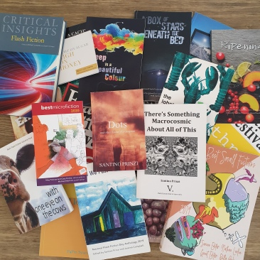 An assortment of books I have been published in or edited.
